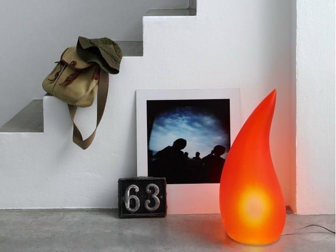 Polyurethane gel floor lamp FIAMMA - Geelli by C.S.