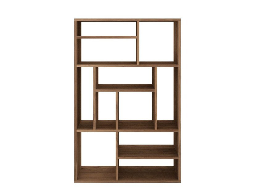 Open double-sided teak bookcase TEAK M-RACK | Bookcase - Ethnicraft