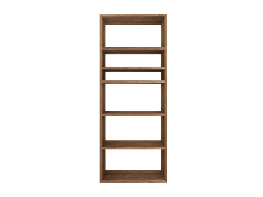 Open double-sided teak bookcase TEAK K-RACK | Open bookcase - Ethnicraft
