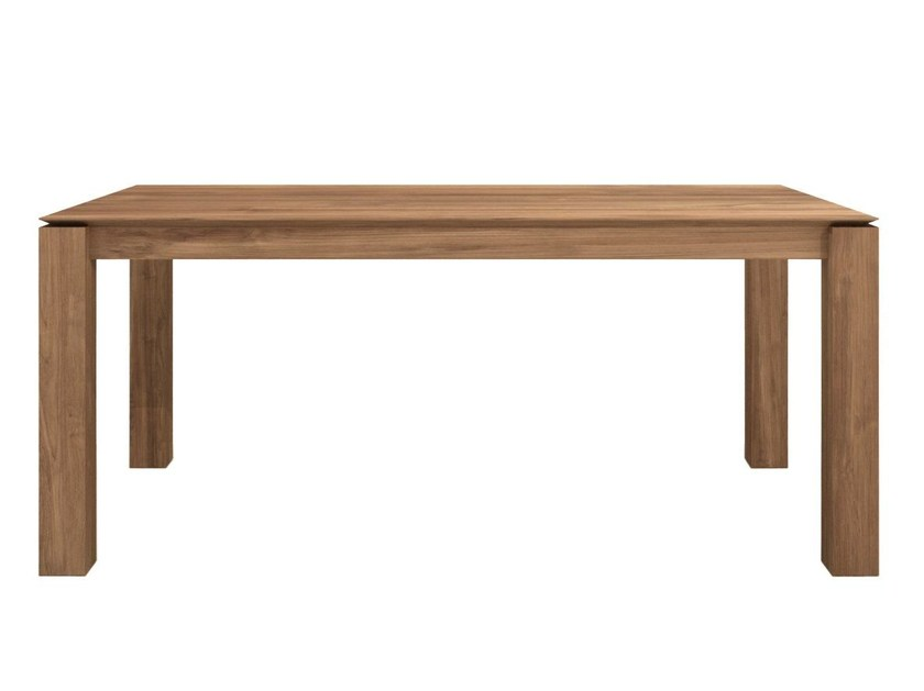 Rectangular teak dining table TEAK SLICE | Table - Ethnicraft