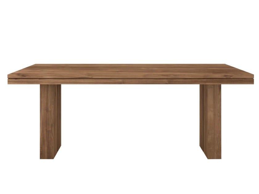 Rectangular teak dining table TEAK DOUBLE   Table - Ethnicraft