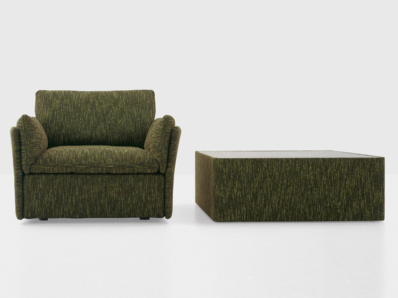 Upholstered armchair TEMPT | Armchair by Nube Italia