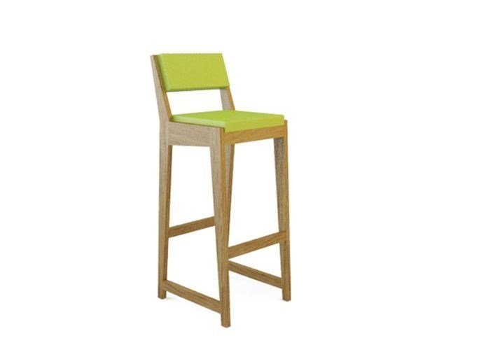 Upholstered wooden counter stool ROOM 26 BARCHAIR 03 - Quinze & Milan