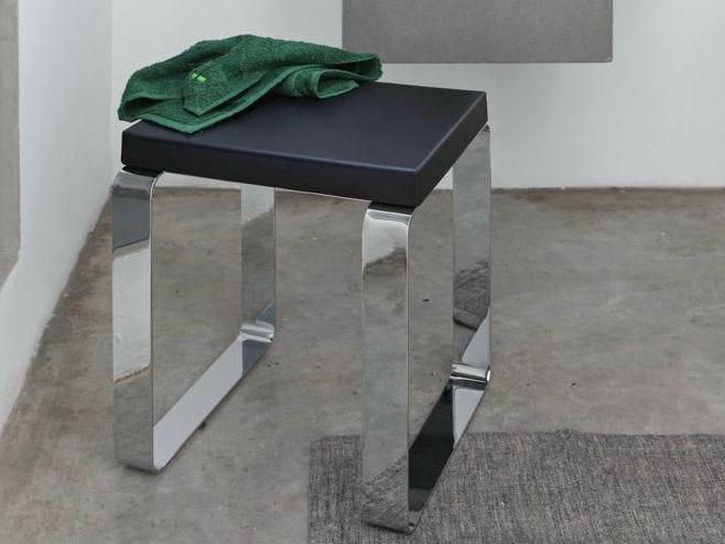 Polyurethane bathroom stool QUADRA | Bathroom stool - Geelli by C.S.