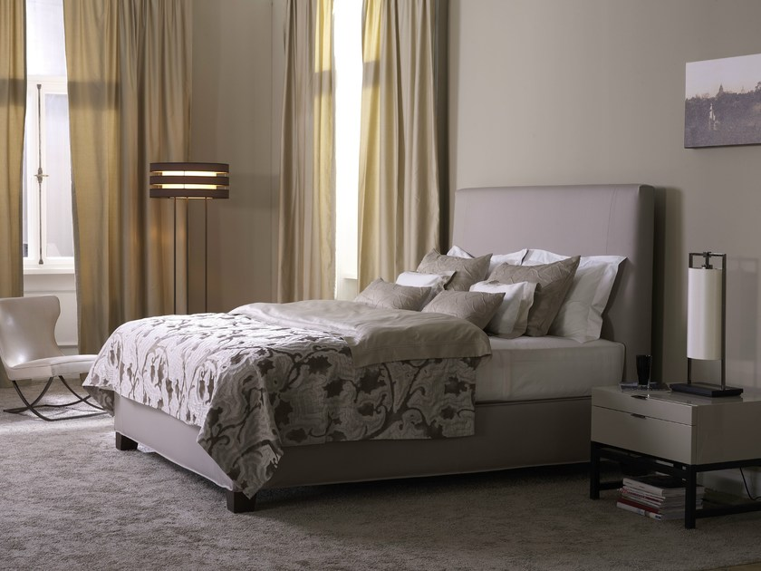Double bed with removable cover with upholstered headboard DUCHESSE - Schramm Werkstätten