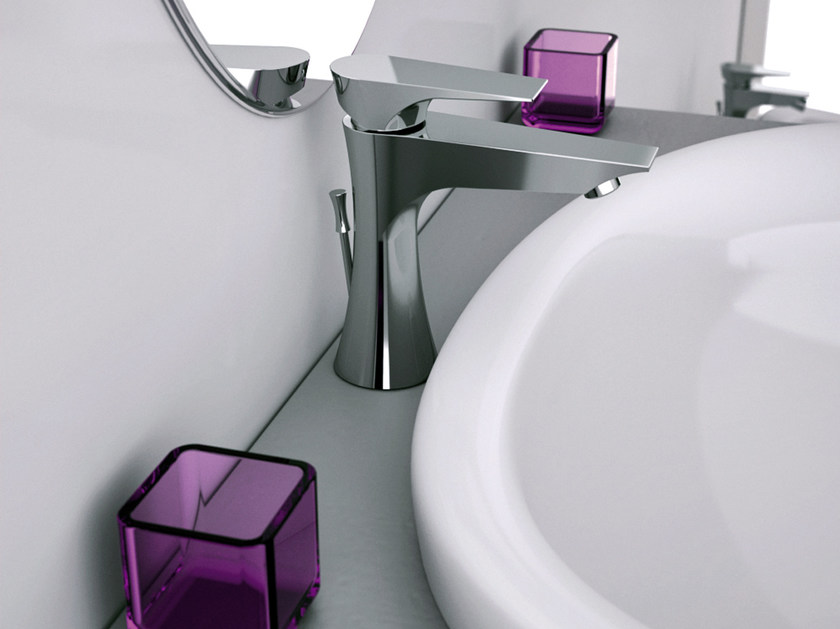 Chrome-plated single handle washbasin mixer DIVA | Single handle washbasin mixer by Daniel Rubinetterie