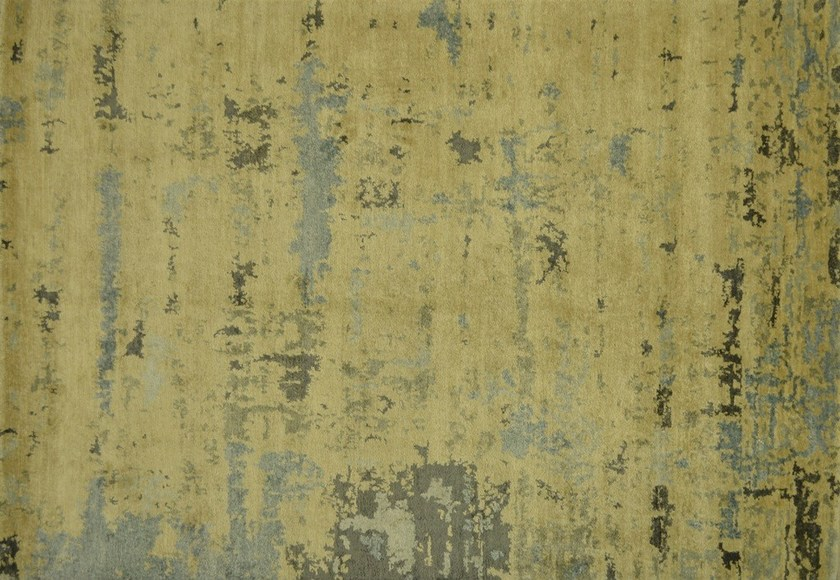 Patterned rectangular bamboo fibre rug LOFT L57C - Mohebban