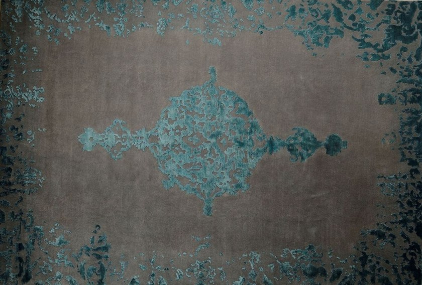 Patterned rectangular wool rug LOFT L48A - Mohebban