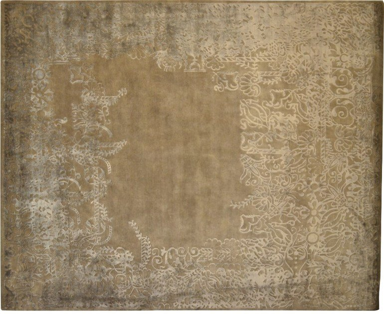 Patterned rectangular wool rug LOFT L84D - Mohebban