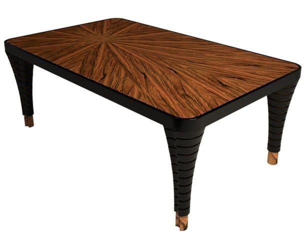 Rectangular wooden dining table VOLUTE II - Malabar Emotional Design