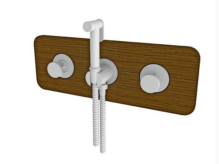 Wooden shower tap with flexible hose MOOD | Shower tap with flexible hose - NOKEN DESIGN