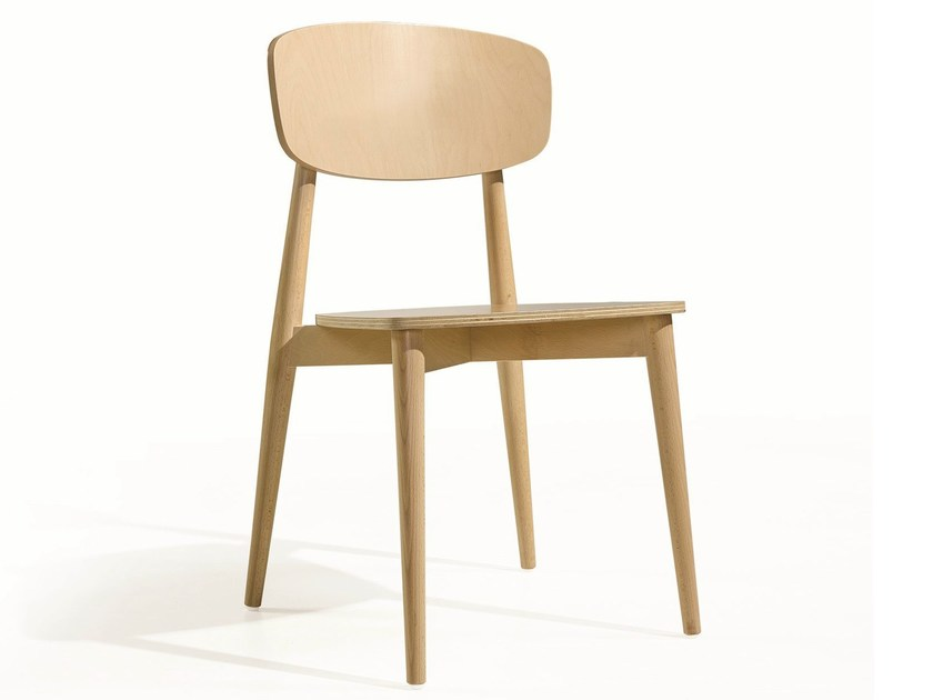 Wooden chair CRAFT PL - Fenabel - The heart of seating