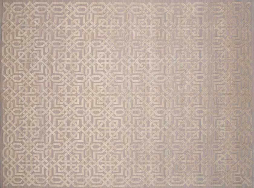 Patterned rectangular cotton and wool rug HL160 | Rug by Mohebban