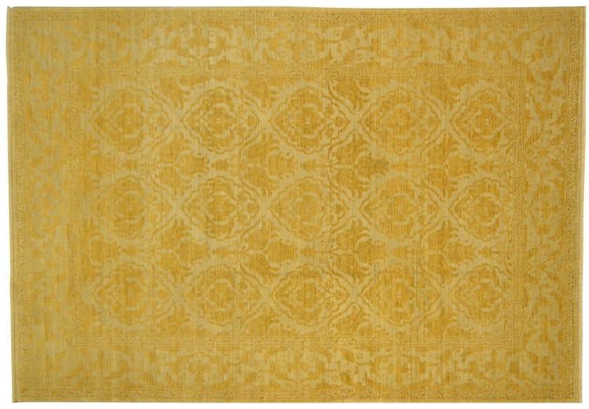 Patterned rectangular wool rug D101020 | Rug - Mohebban