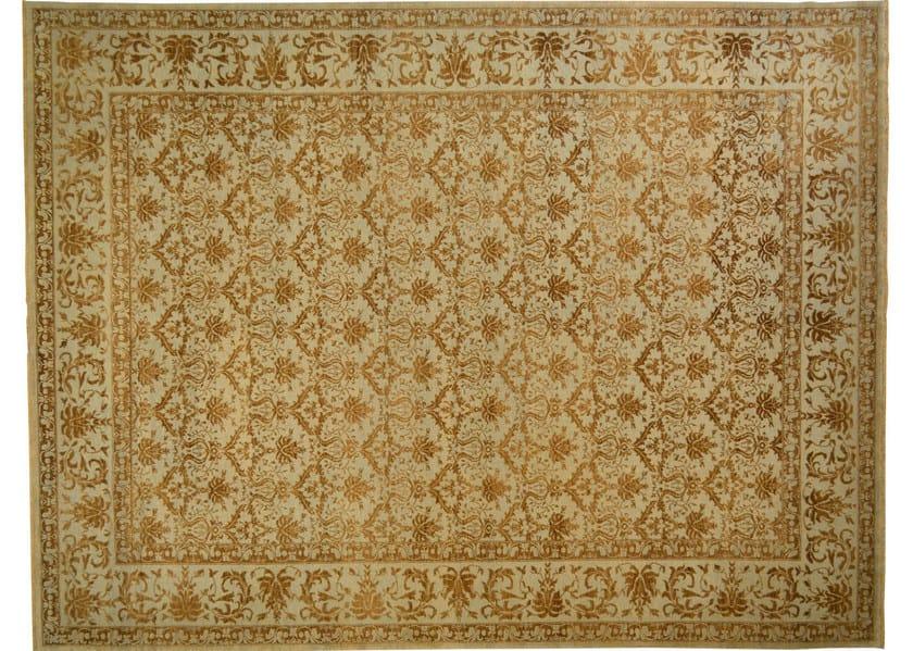 Patterned rectangular wool rug D116031 | Rug - Mohebban