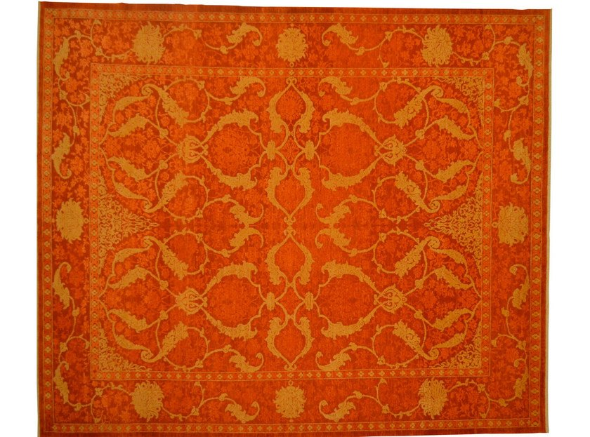 Patterned rectangular wool rug D152526 | Rug by Mohebban
