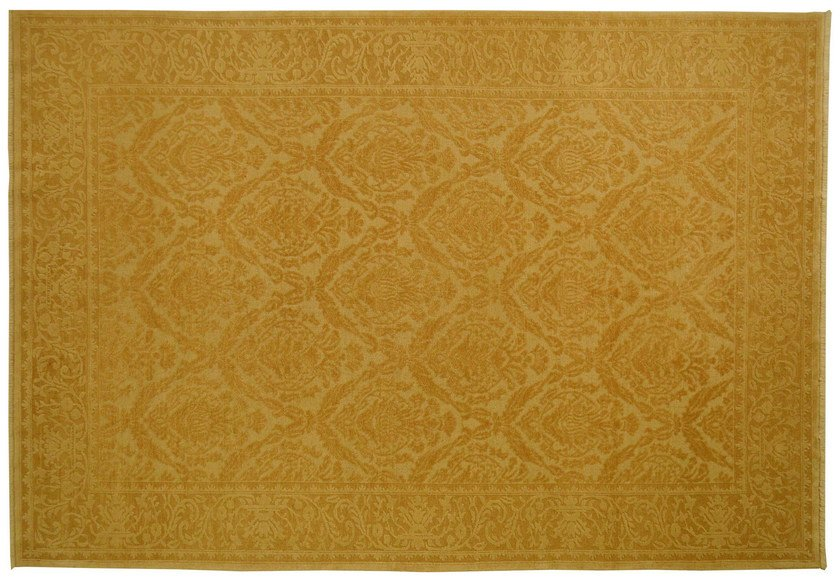 Patterned rectangular wool rug D141020 | Rug - Mohebban