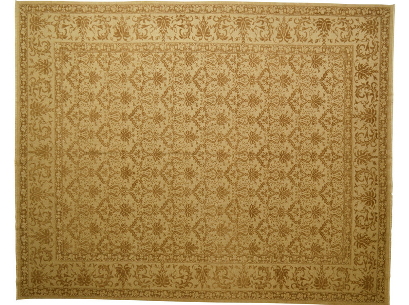 Patterned rectangular wool rug D111032 | Rug by Mohebban