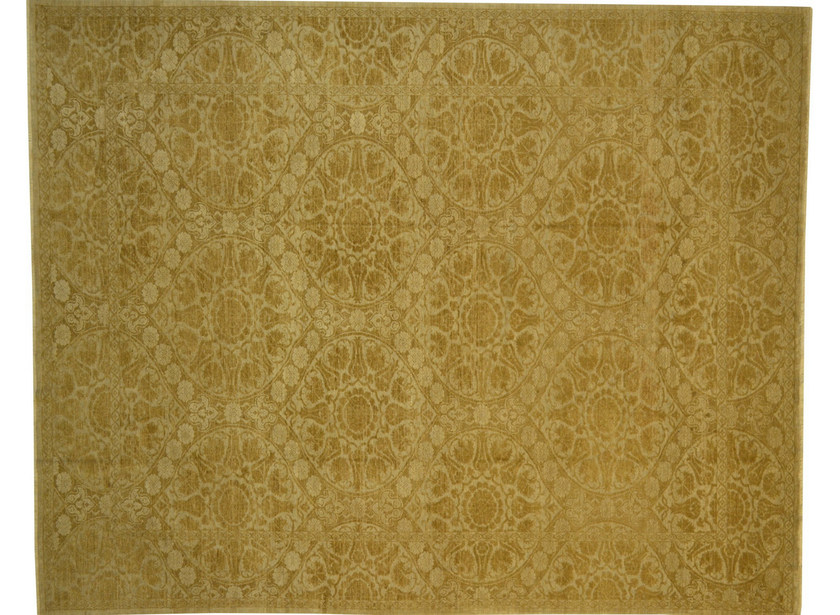 Patterned rectangular wool rug D181132 | Rug - Mohebban