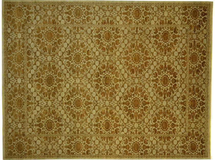Patterned rectangular wool rug D186031 | Rug - Mohebban