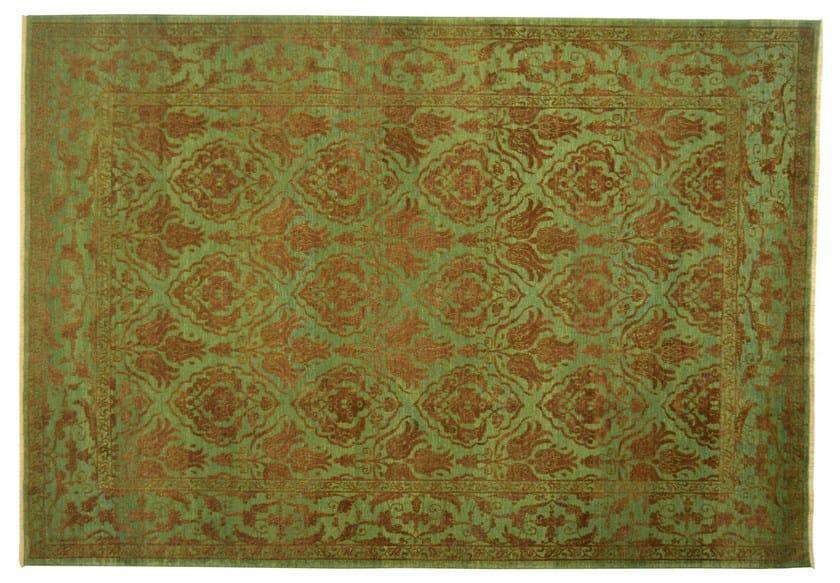 Patterned rectangular wool rug D105139 | Rug - Mohebban