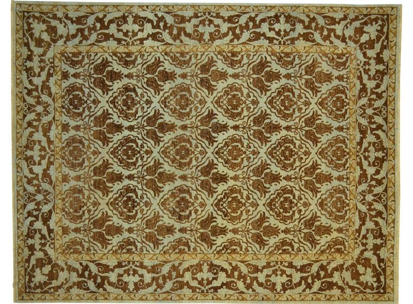 Patterned rectangular wool rug D106034 | Rug - Mohebban