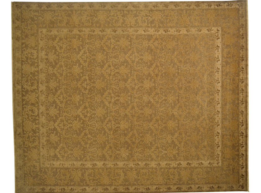 Patterned rectangular wool rug D113132 | Rug - Mohebban