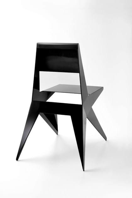 Sedia laccata in alluminio star sedia laccata lamberti for Sedia decor