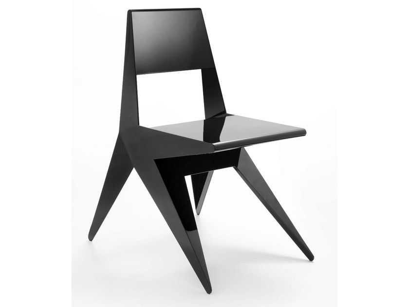 Lacquered aluminium chair STAR | Lacquered chair - Lamberti Decor