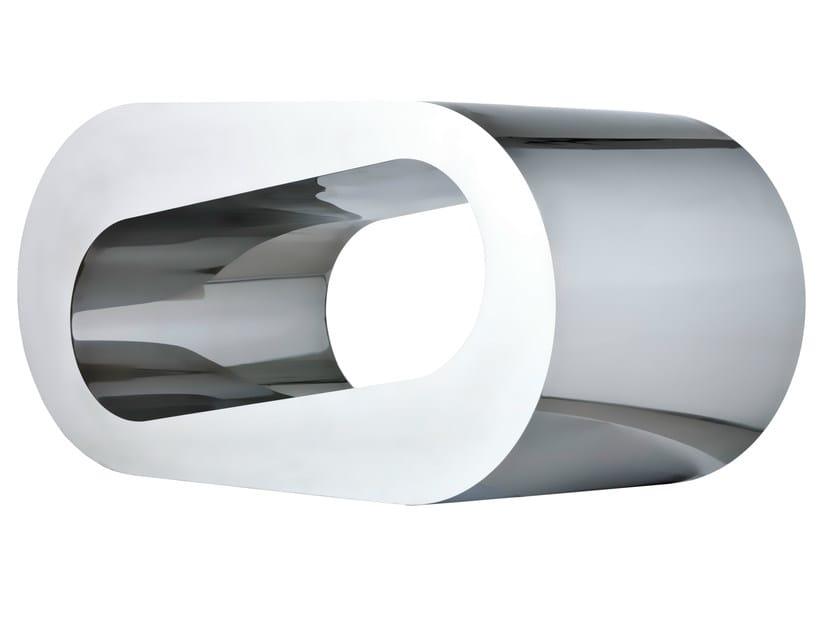 Aluminium coffee table ONDA O by Lamberti Decor