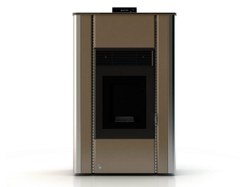 Pellet stove NUANCE ANODIC BRONZE by CAR-MET