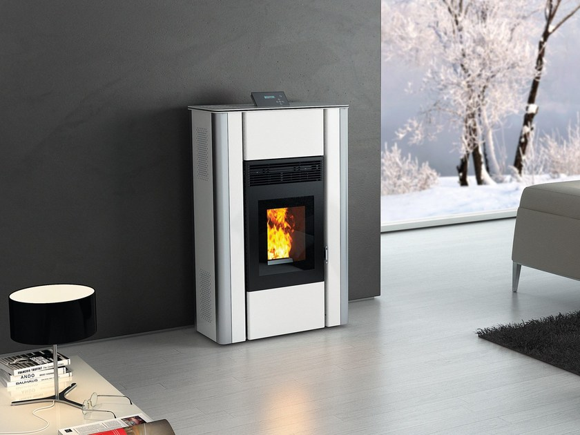 Pellet stove NUANCE MATT WHITE by CAR-MET
