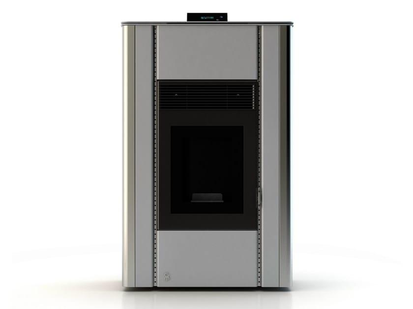 Pellet stove NUANCE RAL 9006 by CAR-MET