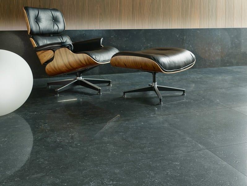 Full-body porcelain stoneware wall/floor tiles BLUESTONE ANTRACITE - Revigrés