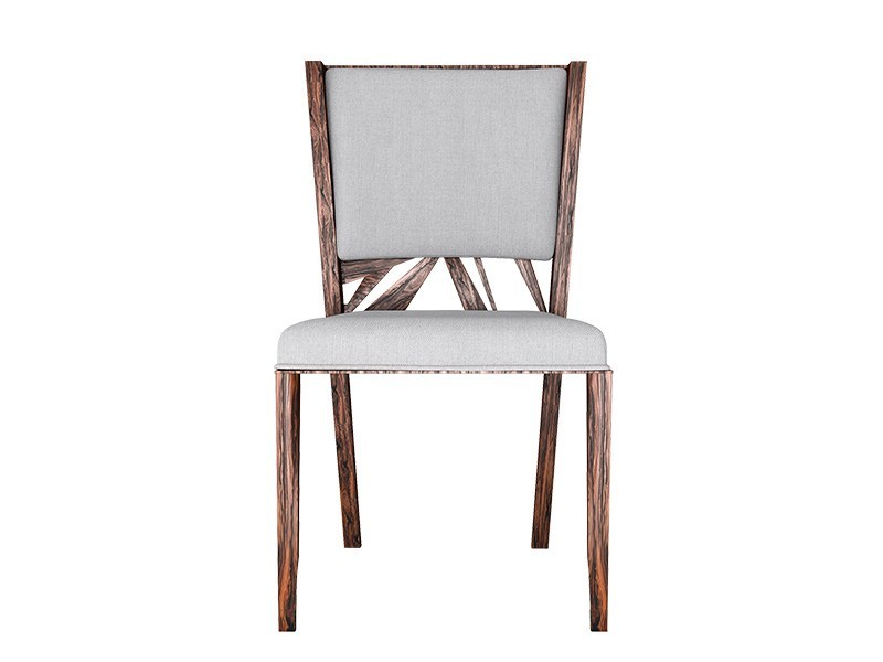 Upholstered rosewood chair DYNASTY | Chair - Malabar - Artistic Furniture