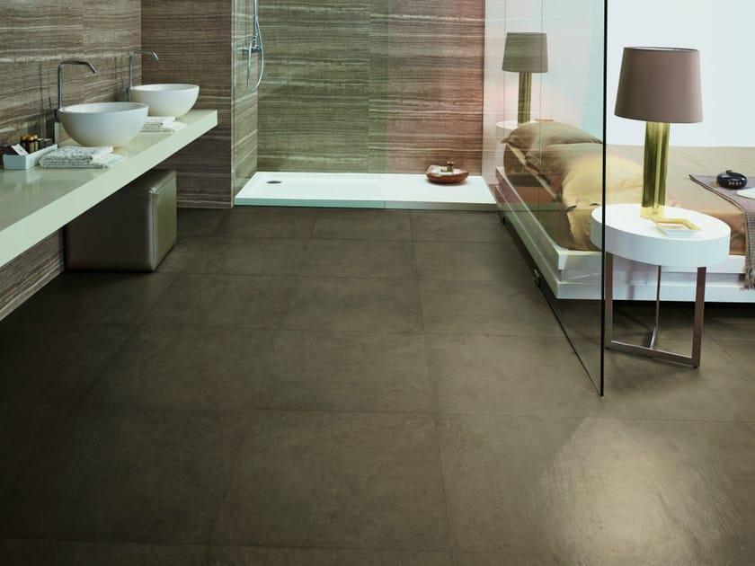 Porcelain stoneware wall/floor tiles GLOBE TABAC - Revigrés