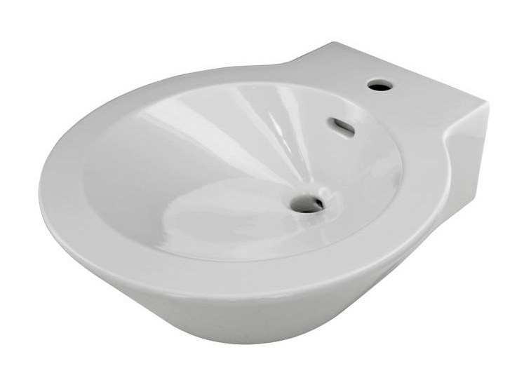 Round single wall-mounted washbasin MOOD | Washbasin by Noken