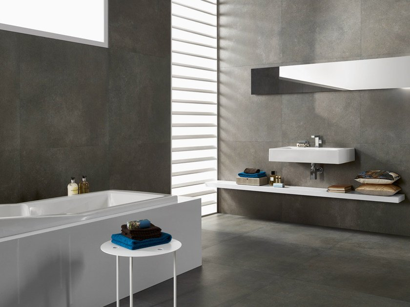 Porcelain stoneware wall/floor tiles LOUNGE GRIS - Revigrés