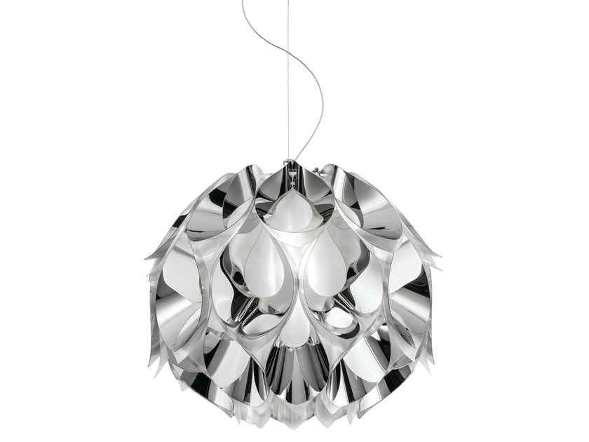 Indirect light Steelflex® pendant lamp FLORA MEDIUM SILVER - Slamp