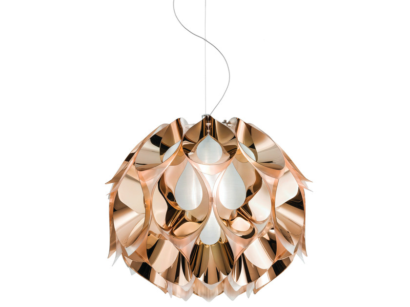 Indirect light Copperflex pendant lamp FLORA MEDIUM COPPER - Slamp