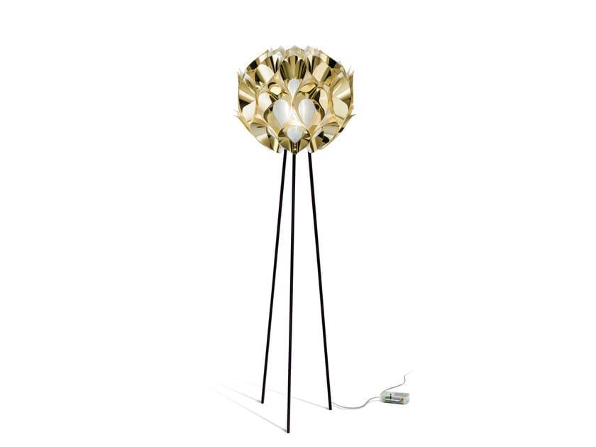 Indirect light Goldflex® floor lamp FLORA FLOOR GOLD - Slamp