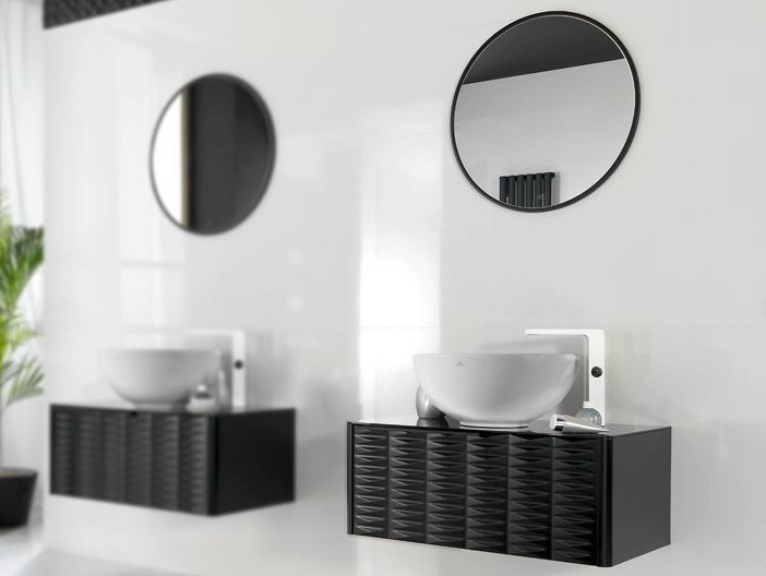 Floor-standing single wall-mounted vanity unit LOUNGE | Vanity unit - NOKEN DESIGN