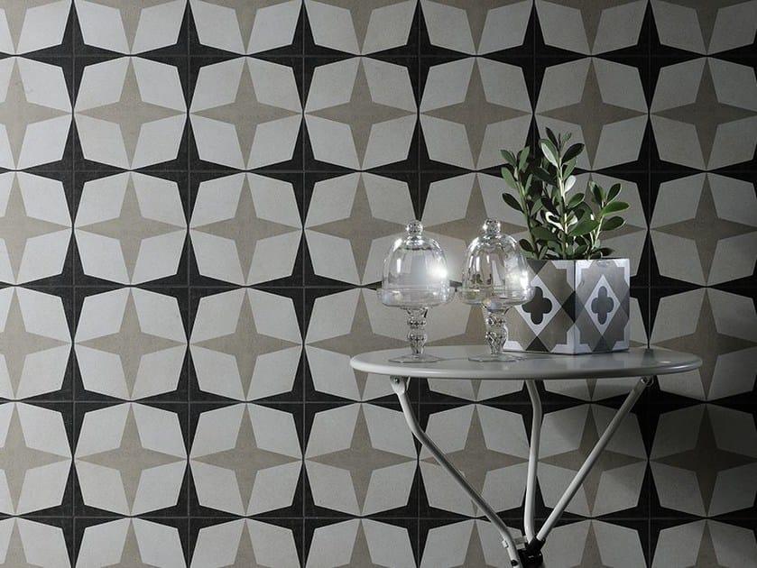 Porcelain stoneware wall tiles CEMENTINE BLACK & WHITE | Wall tiles - Ceramica Fioranese