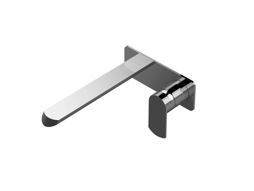 Wall-mounted bathtub tap with plate PHASE | Wall-mounted bathtub tap - Graff Europe West