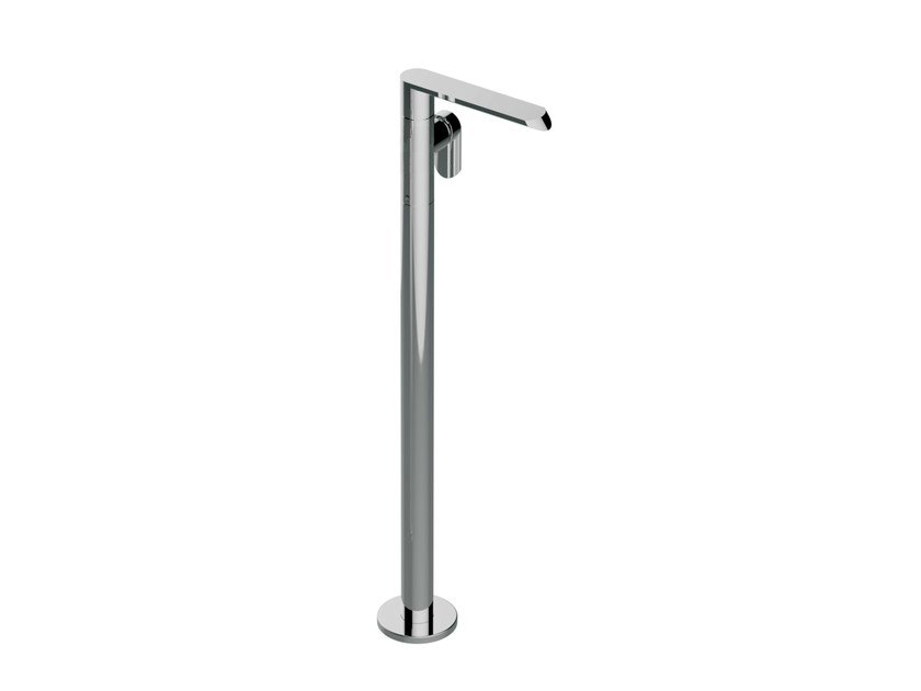 Chrome-plated floor standing bathtub mixer PHASE | Floor standing bathtub mixer - Graff Europe West