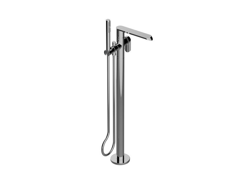 Floor standing bathtub mixer with hand shower PHASE | Floor standing bathtub mixer - Graff Europe West