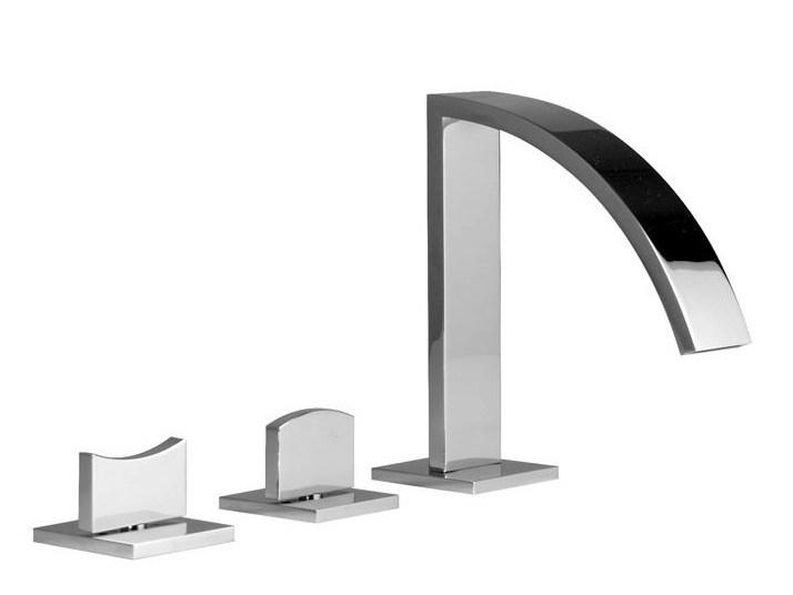 3 hole chrome-plated bathtub set IMAGINE | Bathtub set by Noken