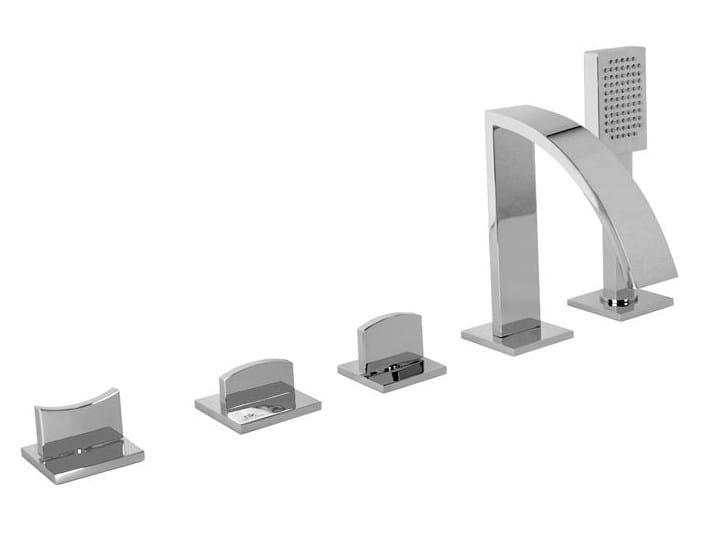 Bathtub set with diverter with hand shower IMAGINE   Bathtub set with diverter by NOKEN DESIGN
