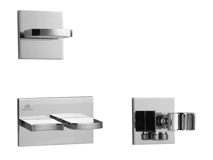 Wall-mounted chrome-plated bathtub tap IMAGINE | Wall-mounted bathtub tap - NOKEN DESIGN