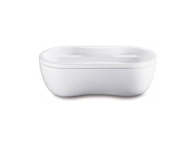 Freestanding oval bathtub MEGA DUO OVAL WITH PANELLING - Kaldewei Italia